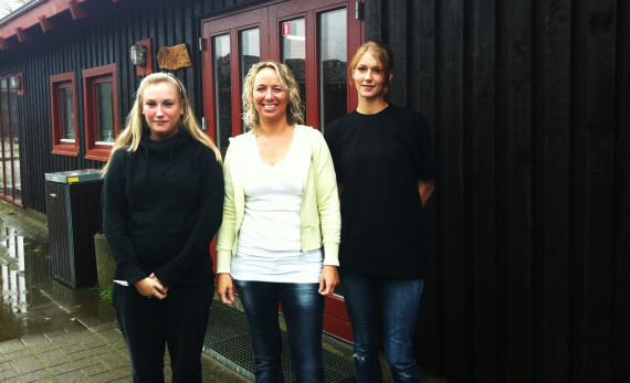 Jessica og Lena sammen med Winie Bjerre fra BC Syd